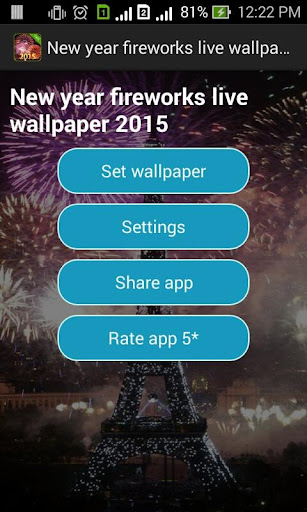 Fireworks live wallpaper 2015