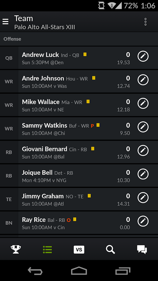 Yahoo Fantasy Football & More - screenshot