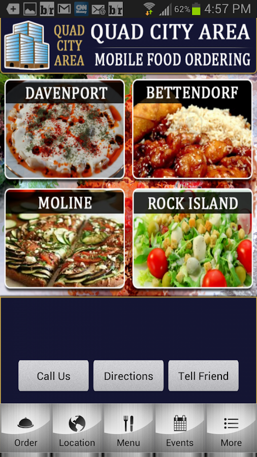 Quad City Mobile Food Ordering - screenshot