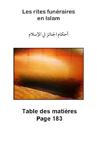Les rites funéraires en Islam.