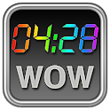 Rainbow Clock Widget (WOW)