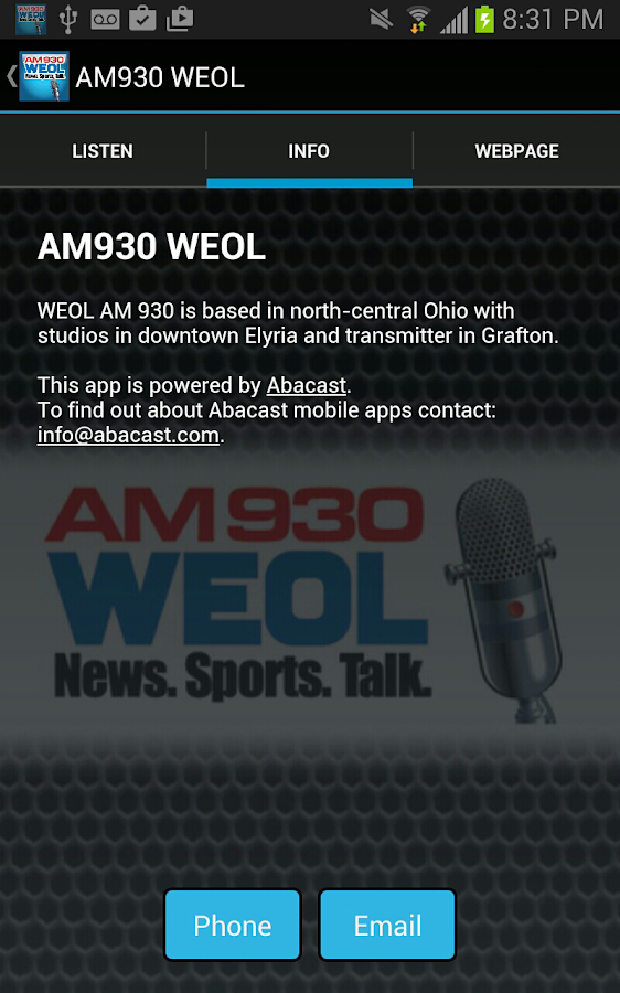 AM930 WEOL- screenshot