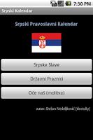 Screenshot of Srpski Kalendar (Serbian Cal)
