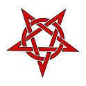 Pentagram Satan Clock Widget