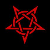 Pentagram Satan Clock Widget