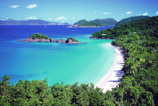 overlook-trunk-bay-st-john-US-Virgin-Islands - The overlook at Trunk Bay, with its vivid vista of jungle and water, may be one of your top highlights when visting St. John in the U.S. Virgin Islands.