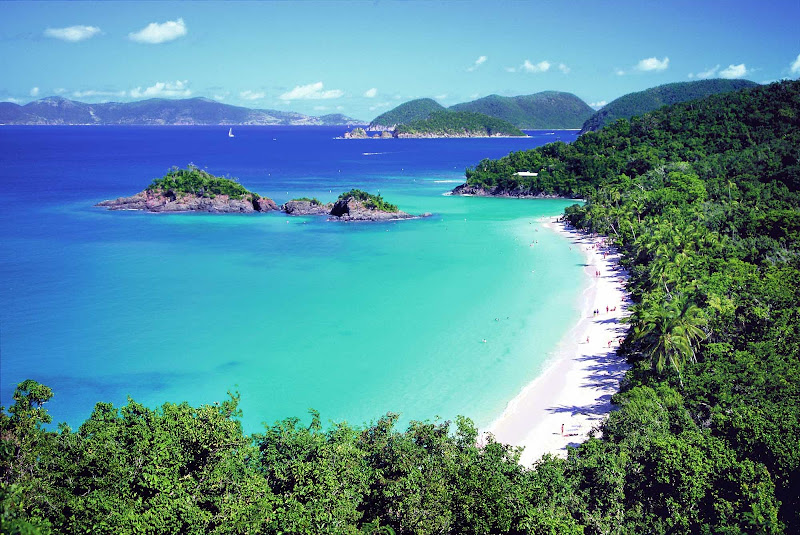 The overlook at Trunk Bay, with its vivid vista of jungle and water, may be one of your top highlights when visiting St. John in the U.S. Virgin Islands.