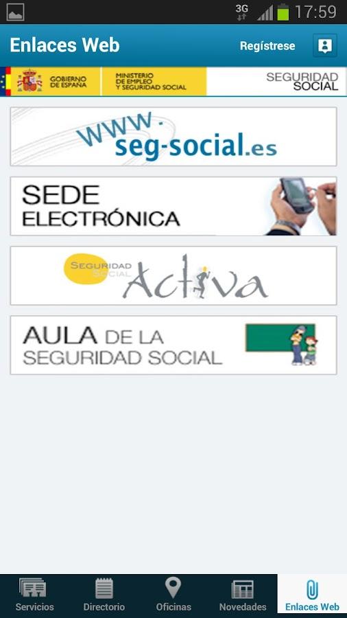 Seg-Social Seg. Social Móvil - screenshot