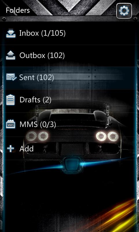 GO SMS PRO AiBlue ThemeEX - screenshot