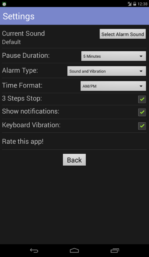 Simple Alarm Pro- screenshot
