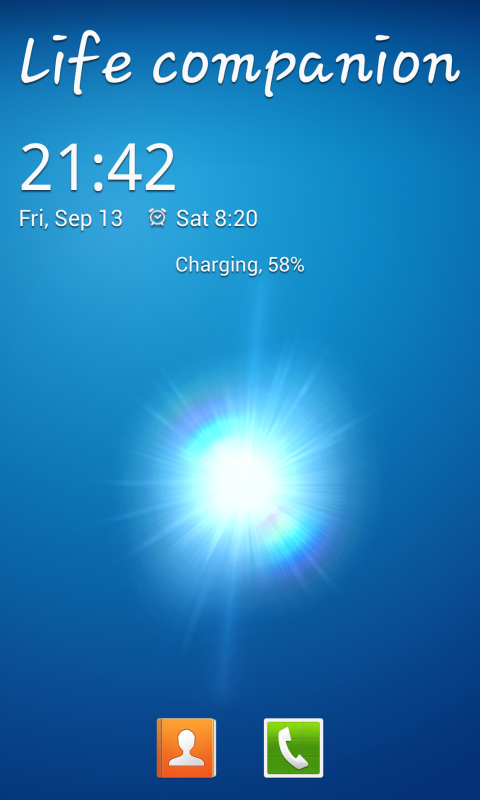 Galaxy S4 Lockscreen - screenshot