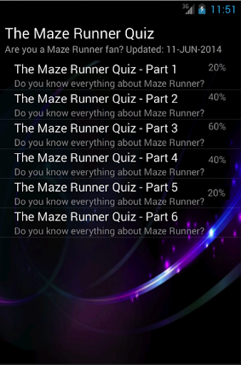 The Maze Runner Book Quiz