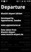 Screenshot of Departure MUC
