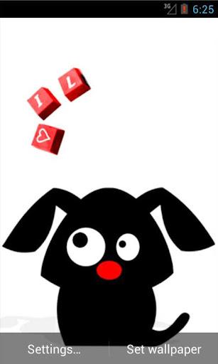 Doggie Love Live Wallpaper