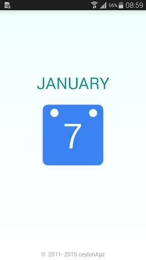 Ceylon Calendar 2015-Sri Lanka