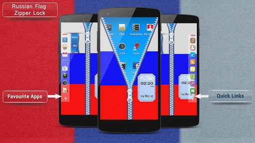 Russian Flag Zipper Lock