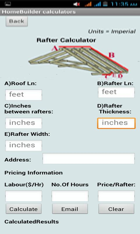 Home construction calculators android apps on google play for Home construction estimate calculator
