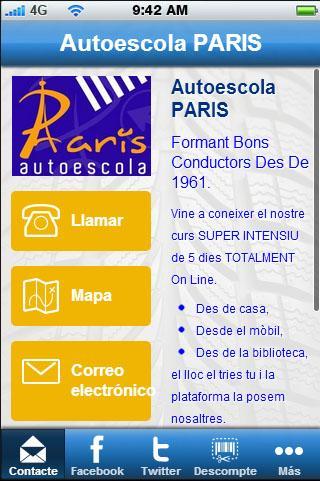 Autoescuela PARIS.