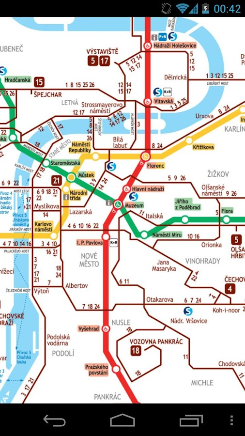 prague metro and tram map free android apps on google play. Black Bedroom Furniture Sets. Home Design Ideas