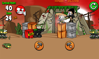 Screenshot of Zombies Can't Jump FREE