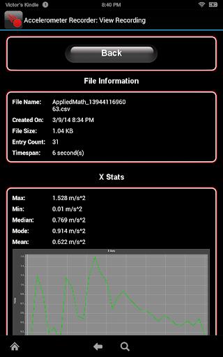 【免費教育App】Accelerometer Recorder (Full)-APP點子