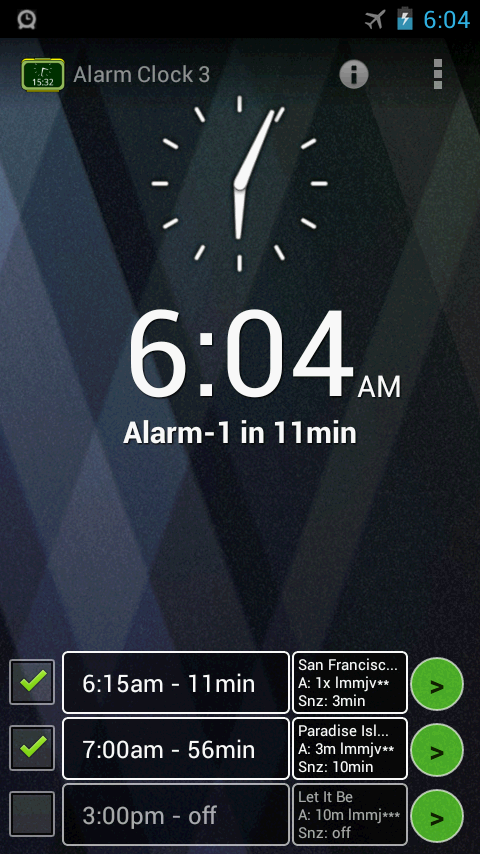Alarm Clock 3 - music alarm- screenshot