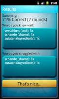 Screenshot of Ofo Vocabulary Trainer