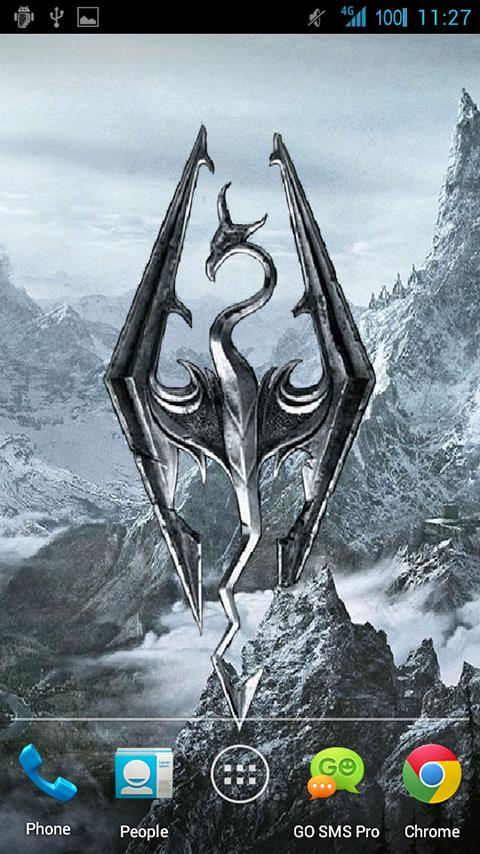 Skyrim Live Wallpaper - screenshot