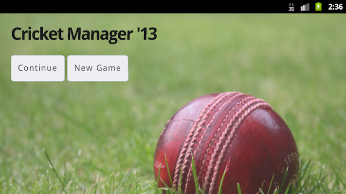 Cricket Manager 13 - screenshot