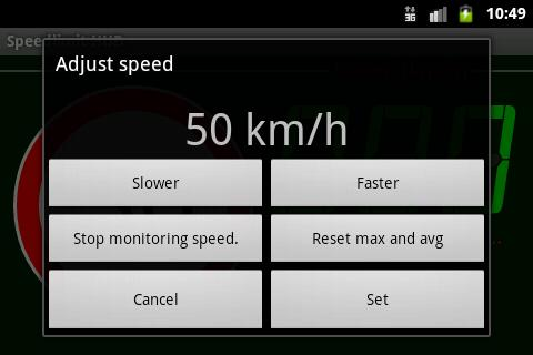 Speedlimit GPS Speed HUD - screenshot