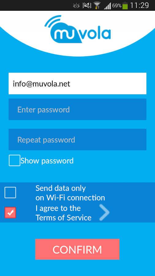 Muvola Backup- screenshot