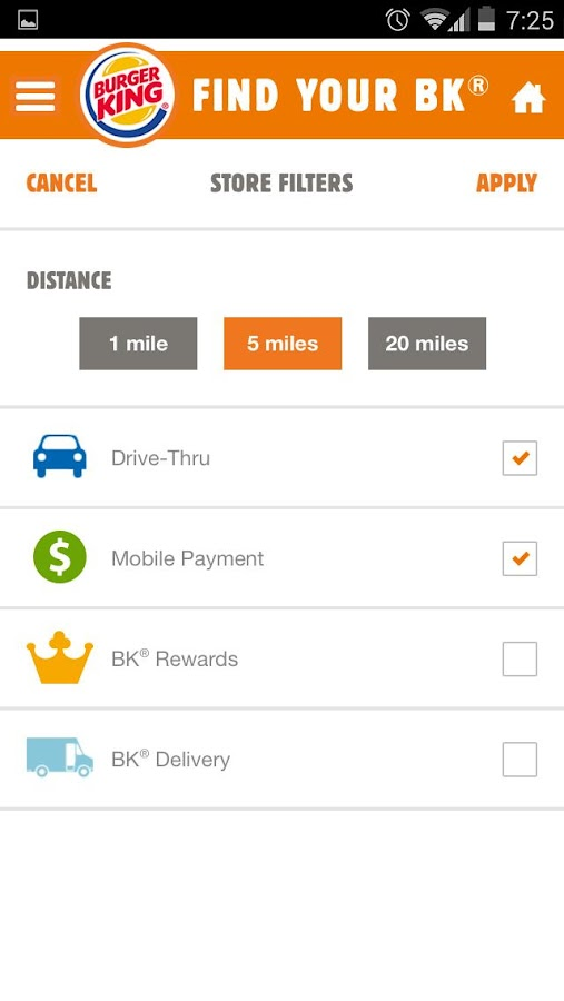 BURGER KING® App - screenshot
