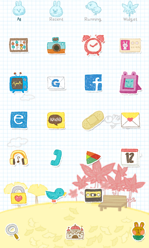 Leaves Dodol launcher theme - screenshot