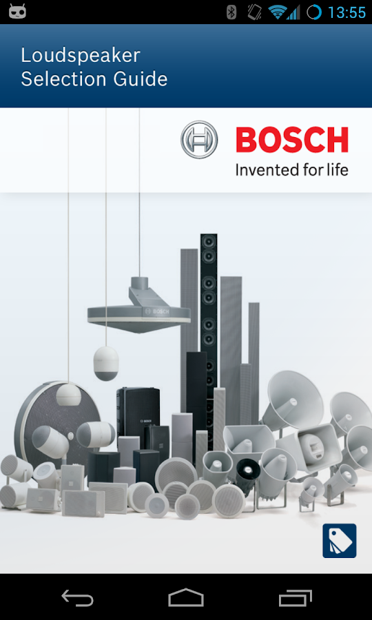 Bosch Loudspeaker Selection- screenshot