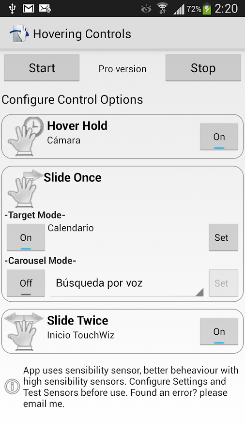 Hovering Controls- screenshot