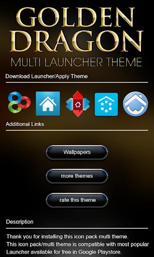 玩娛樂App|图标包金色龙免費|APP試玩