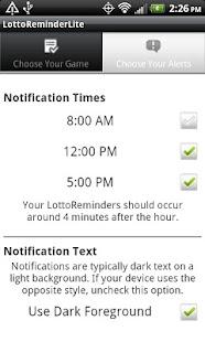 LottoReminder Lite- screenshot thumbnail