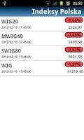 Screenshot of Notowania Giełdowe GPW +Widget