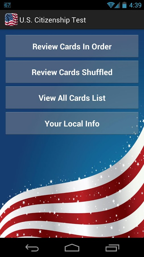 U.S. Citizenship Test 2015- screenshot