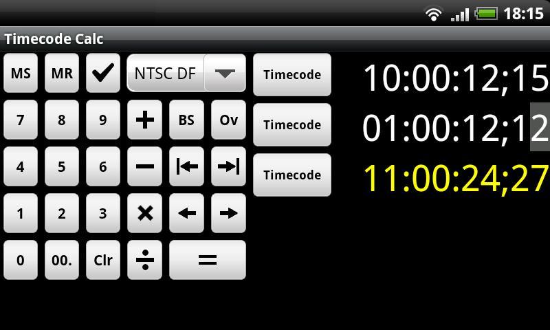 Timecode Calculator- screenshot