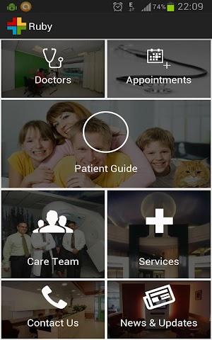 Ruby Hall Clinic app screenshot