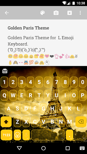 Golden Paris Emoji Keyboard
