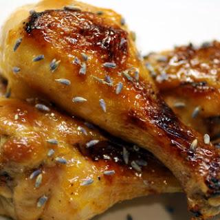 Lavender-Apricot Chicken Drumsticks