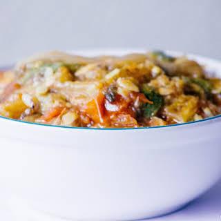 Eggplant Zucchini Stew - Alternative to Nyaadoa Abomu.