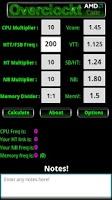 Screenshot of AMD CPU Calculator