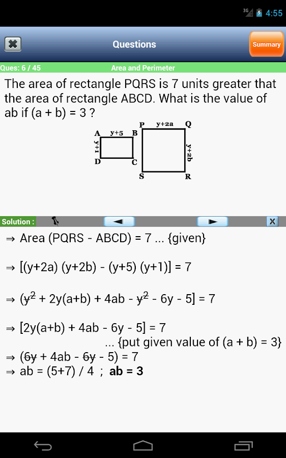 GRE Math - screenshot