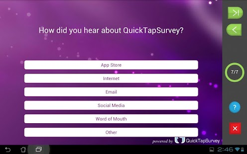QuickTapSurvey Offline Survey - screenshot thumbnail