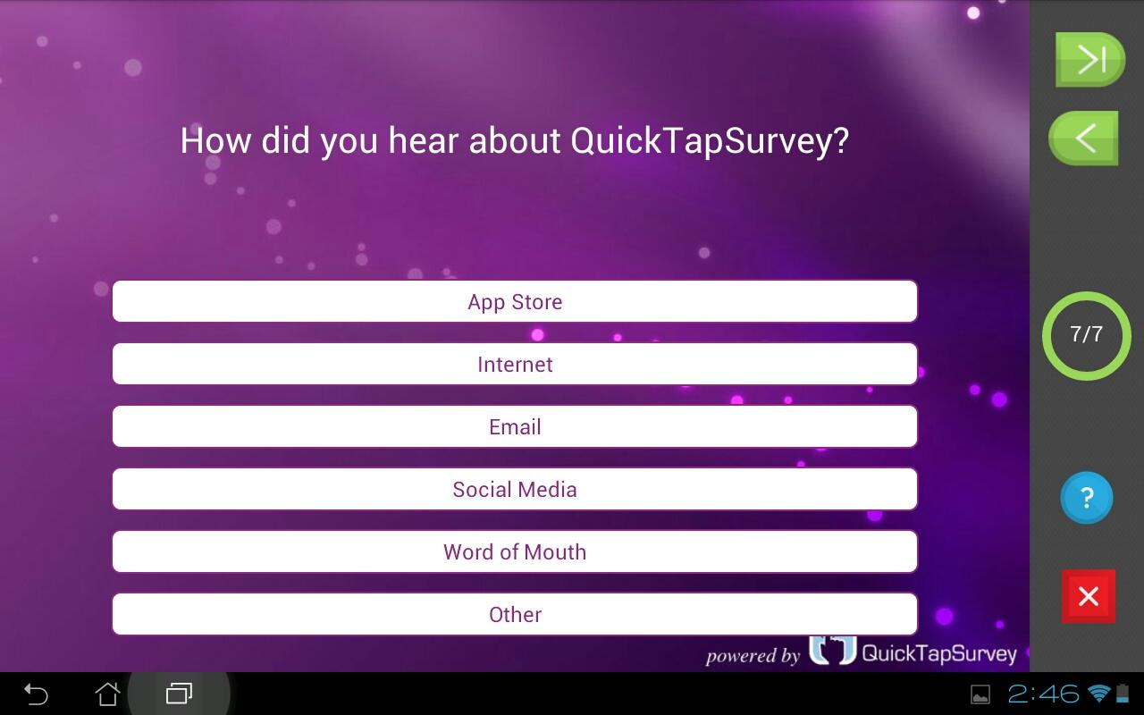 QuickTapSurvey Offline Survey - screenshot