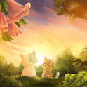 Kitten Sunset Wallpaper Free logo