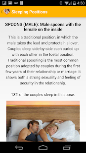 Sleeping Positions for Couples - screenshot thumbnail